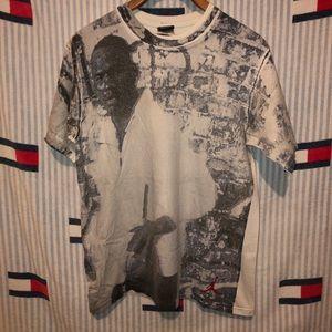 Early 2000s Jordan all over print shirt